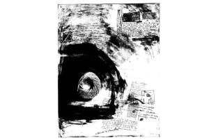 Mabel Rubli - El hilo de Ariadna III - Litografía,2001