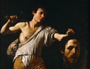 David con la cabeza de Goliat, Caravaggio.